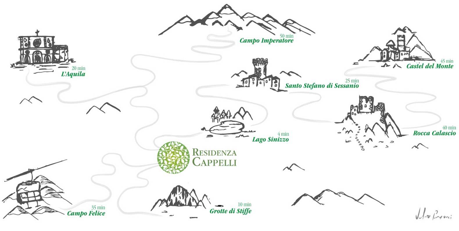 Mappa Abruzzo Interno